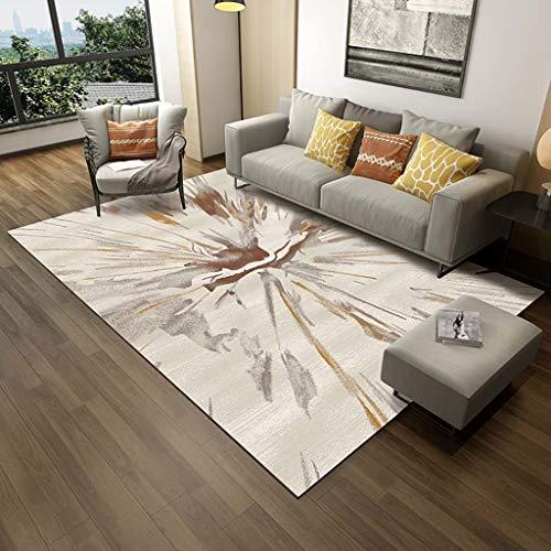 Creme Grüne Rechteck Teppich (WEN Rugs Rechteck Teppiche Abstrakte Wohnzimmer-Bodenteppiche Im Boho-Retro-Stil, rutschfeste Teppiche Für Innen- Und Außenbereiche, 5 Farben (Color : C, Size : 160 * 230cm))