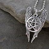 Castiel Wings Combo collana–Serie TV ispirata–memorabilia fan oggetto da collezione–Novità Fashion Wear gioielli