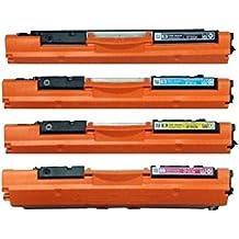 Juego de 4 ECS cartucho de tóner láser Compatible CF350A CF351A CF352A CF353A 130 A reemplazar para HP Color LaserJet Pro MFP M176n M177fw impresora