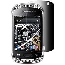 Samsung Galaxy Music (GT-S6010) Blickschutzfolie - atFoliX FX-Undercover 4-Wege Sichtschutz Blickschutzfilter Displayschutzfolie