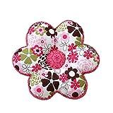 Nunubee Kissen Baumwollmaterial Blumenform Tatami-Stil zierkissen mit füllung apelt kissenhülle vintage deko Dekoration deko kissen deko wohnzimmer Autodekoration sofa cover, Rote Blumen 40x40cm