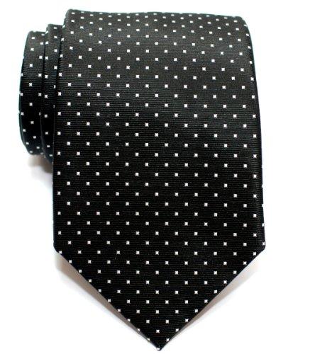 Retreez Herren Gewebte Krawatte Kleinen Punkten 8 cm – schwarz mit ...