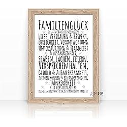 """FAMILIENGLÜCK"" KUNSTDRUCK - Familie - Glück - Poster - Format: A4 / A3- ohne Rahmen"