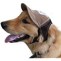 Godea - Sombrero para Perros con Visera Deportiva y Agujeros para los oídos para Perros medianos al Aire Libre