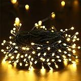 Guirlande à Piles 10M 100 LED Guirlande Lumineuse Blanc Chaud pour Décoration de l'Arbre Noël, Fête, Mariage, Anniversaire - par NEXVIN