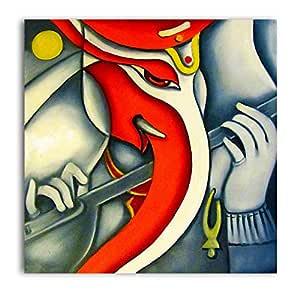 Tamatina Canvas Paintings - Simple Ganesh - Lord Ganesha ...
