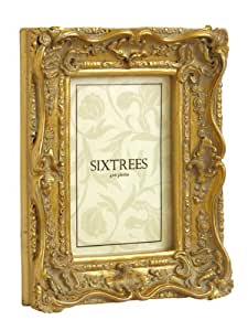 """Shabby Chic Style Very Ornate Gold Photo Frame for 6""""x4"""" (150x100mm) Pictures - Chelsea, by Sixtrees."""