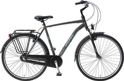 51VN yxyZQL - POPAL CityFlex 28 Inch 50 cm Men 3SP Rim Brakes Grey