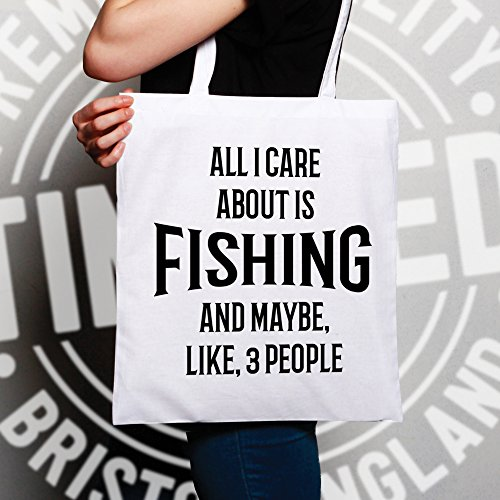 Borsa Da Pesca Tutto Quello Che Mi Interessa È La Pesca E Come 3 Persona Divertente Bianco Freddo
