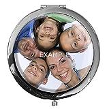 Personalisierbarer Taschenspiegel in runder Form