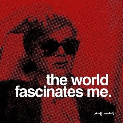 Andy Warhol Revolution (Kunstdruck 'Die Welt', von Andy Warhol, Größe: 30 x 30 cm)