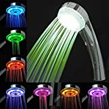 Inditradition Bathroom Overhead Shower With 7 Color Automatic Changing LED Lights (Silver, 10 cm x 7 cm x 23 cm)