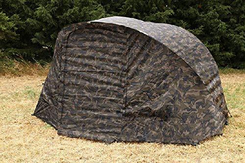 Fox R-Series 1 Man XL WRAP camo - Überwurf für Karpfenzelt, Zeltüberwurf für Angelzelt, Außenwand für Zelt, Angelzeltüberwurf (Camo Winter Zelt)
