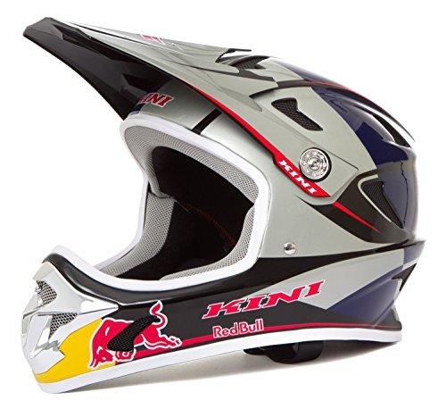 Kini Red Bull Downhill-MTB Helm MTB Silber Gr. L