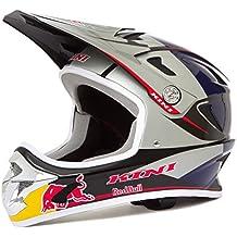 KINI Red Bull Downhill–Casco MTB Plata/Azul, color plata, tamaño small