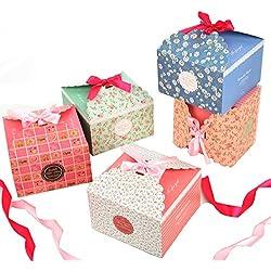 Boites Cadeau,Fashionbabies Coffrets cadeaux,ensemble de 15 boîtes de friandises décoratives pour Noël, Thanksgiving, cadeaux d'anniversaire et fête
