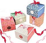 Geschenkbox 15er bunt Kästchen Geschenkschachtel in 5 Farbe, Fashionbabies Geschenk-Box für Süßigkeiten, Kuchen, Schokolade, Gebäck Kästchen für Weihnachten Geburtstage Hochzeiten Babyparty