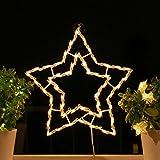 Fenster-Silhouette Weihnachten 40cm Weihnachtsdeko Fensterbilder Beleuchtet Weihnachtsbeleuchtung innen Fensterdeko zum aufhängen