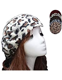 eeb97c8c95a YAKEFJ Women s French Style Vintage Leopard Print Wool Soft Winter Warm  Beret Beanie Hat