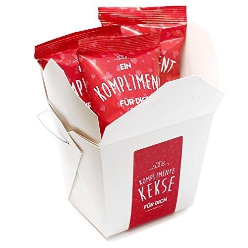 3-er Box Kompliment-Kekse | der Glückskeks für die Hochzeit, Geburtstag, Valentinstag, Muttertag, als Geschenk für die beste Freundin oder den liebsten Kollegen | frisch gebacken, vegan und made in Germany
