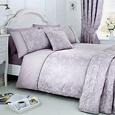 Serene Jasmine Duvet Cover Set, Cotton/Polyester In Champagne Or Lavender all Sizes AVAILABLE & Accessories