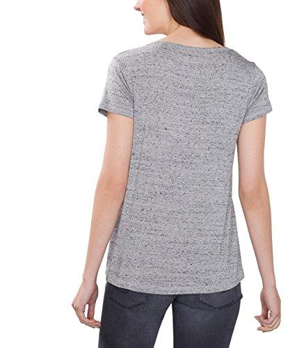 edc by Esprit 086cc1k058, T-Shirt Femme Gris (LIGHT GREY 5 044)
