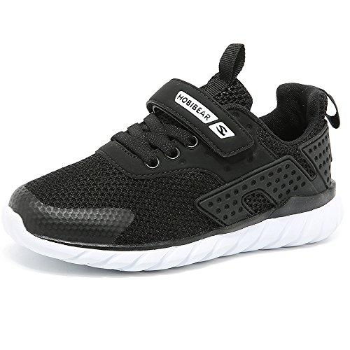 XIAO LONG Turnschuhe Kinder Sneaker Jungen Sportschuhe Mädchen Hallenschuhe Outdoor Laufschuhe Für Unisex-Kinder, Schwarz, EU30/CN31