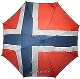 Y NOT Automatik Taschenschirm mit Flagge Norwegen