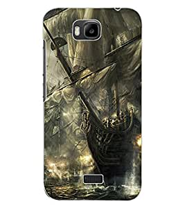 ColourCraft Battle Ships Design Back Case Cover for HUAWEI HONOR BEE