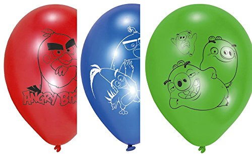 Angry Birds Party Luftballons zum Kinofilm Kindergeburtstag (Luftballons Birds Angry)