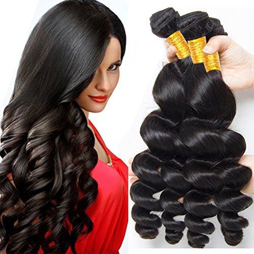 La® brasiliani vergini ondulato naturale capelli umano , morbidi e lisci sciolto umani capelli veri,grado 8a, 300g (20cm 25cm 30cm)