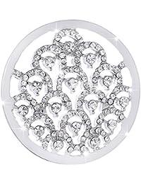 Morella mujeres amuleto coin 33 mm piedras de zirconia