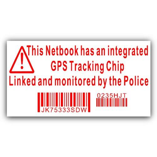 Notizbuch mit Sticker-Attrappe Überwachungskamera GPS Handgerät Polizei Blechschild-Dell, HP, Apple, Mac Platinum Gps