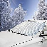 V-RULE frontscheibenabdeckung Auto - scheibenabdeckung Winter - Anti-Frost Frontscheibe Abdeckung Sonnenschutz Schneeschutz-Winterabdeckung Frostschutz Eisschutz Faltbare Windschutzscheibe