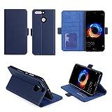 Huawei Honor 8 PRO : Housse Portefeuille luxe bleue Cuir Style avec stand - Etui coque de protection Honor8 PRO 5.7 pouces avec porte cartes - Accessoires pochette XEPTIO : Exceptional case !