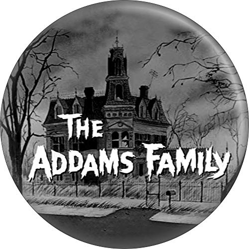 Addams Family - Logo mit Haus - 5,7 cm rund Magnet (Fester Family Onkel Addams)