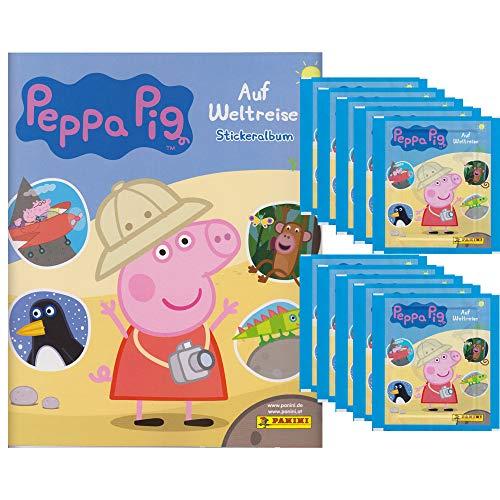 Panini - Peppa Pig Wutz auf Weltreise - Sammelsticker - 1 Album + 10 Tüten