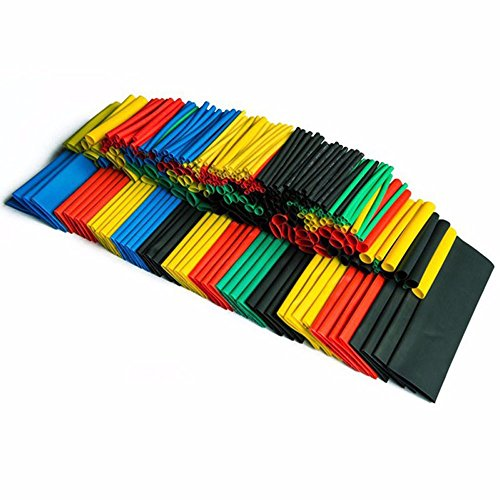 Price comparison product image Efanr 328 Pieces/pack Heat Shrinkable Wire Wrap Tube Assortment 2:1 Shrink Ratio Dual Wall Adhesive Lined Heat Shrink Kit Electrical Insulation Cable Tubing 5 Colors