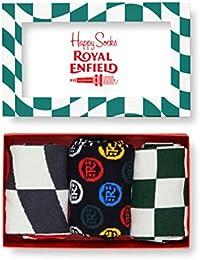 Chaussettes Happy X Royal Enfield édition spéciale pour homme Coffret cadeau