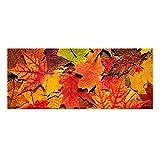 THIKIN 24,1x 61cm (60x 24cm) Gummi + Filz Stufenmatte Frische Blätter Fußmatte Rutschfeste Boden Teppiche Multi 4