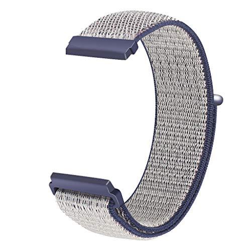 Knowin Uhrenarmband Ersatz-Nylonarmband-Uhrenarmband-Handgelenk-Sportriemen für Fitbit Versa Lite Unisex Einfarbig lässiger Stil Loopback-Gurt Ersatzband in Farbe