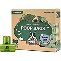 Sacchettini per pupù Pogi - 30 rotoli (450 sacchettini) - grandi, biodegradabili, profumati, sacchetti per bisogni dei cani