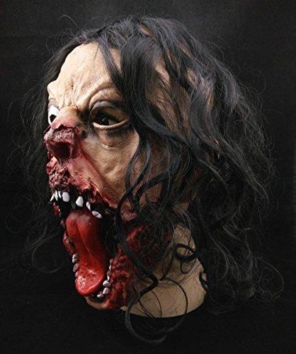 en Sparta Mask, Super grässlicher eine Augenmaske Latex Tierkostüm Spielzeug mit Perücken (Heath Ledger-joker Make-up Halloween)