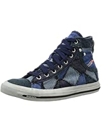 Diesel Exposure iv W Azul Blancos Lona Mujeres Capacitadores Zapatos