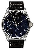 PARNIS Automatikuhr Modell 2092 mechanische Herren Armbanduhr Edelstahl Lederarmband SeaGull Uhrwerk Gangreserve-Anzeige