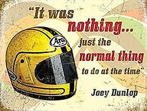 Plaque Murale Métal Décoration Casque Moto Motard Retro Joey Dunlop Idéal Cadeau