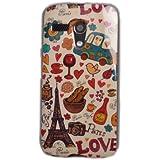 Voguecase TPU Funda de Silicona de Gel Carcasa Tapa Case Cover Para Motorola Moto G(Paris Love) + Gratis aguja de la pantalla stylus universales