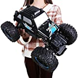 Kikioo Voiture radiocommandée 1/14 4WD Tout Terrain Monster Truck Desert Rock Crawlers 4x4 RTR Voiture de Conduite Double Moteurs Conduire Grand Pied Voiture Télécommande Modèle De Voiture Véhicule Ho