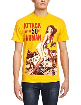 Playlogic International Attack Of The 50ft Woman - Camiseta de manga corta para hombre