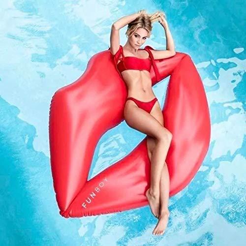 Outdoor-Rucksack wasserdicht Sommer strand schwimmbad aufblasbare lippen schwimmende reihe rote lippen schwimmbett sofa erwachsene wasser spielzeug schwimmring schwimmende reihe 180x160 cm mit luftpum